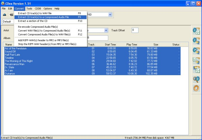 how to change mp3 to cd audio track